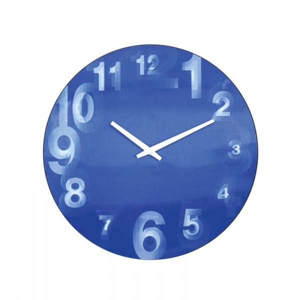 Zegar ścienny 39 cm Nextime 3D niebieski 3077BL