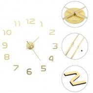 Zegar ścienny 3D, nowoczesny design, 100 cm, XXL, złoty