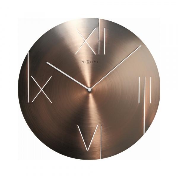 Zegar ścienny 43 cm NeXtime Galileo miedziany 3104CO