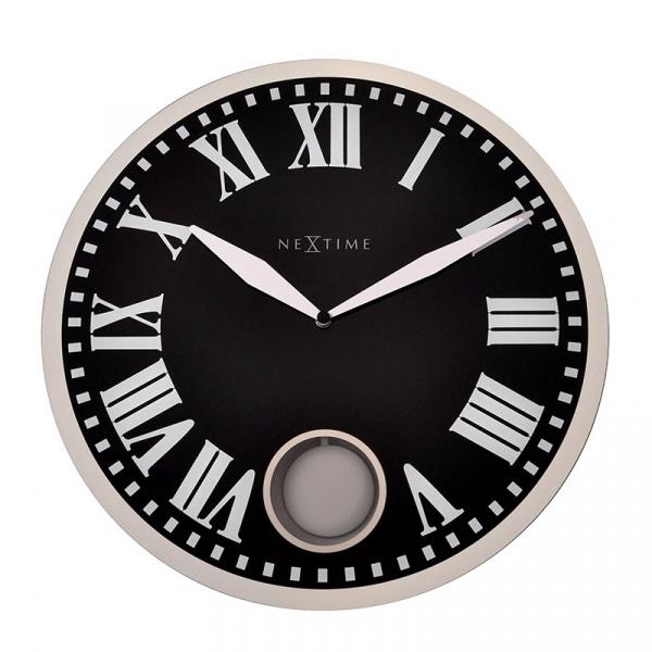 Zegar ścienny 43 cm Nextime Romana czarny 8161