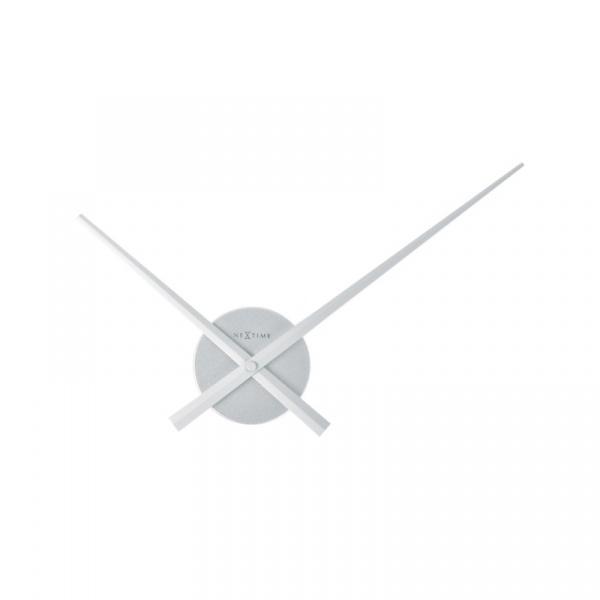 Zegar ścienny 48 cm Nextime Mini Hands srebrny 3074ZI