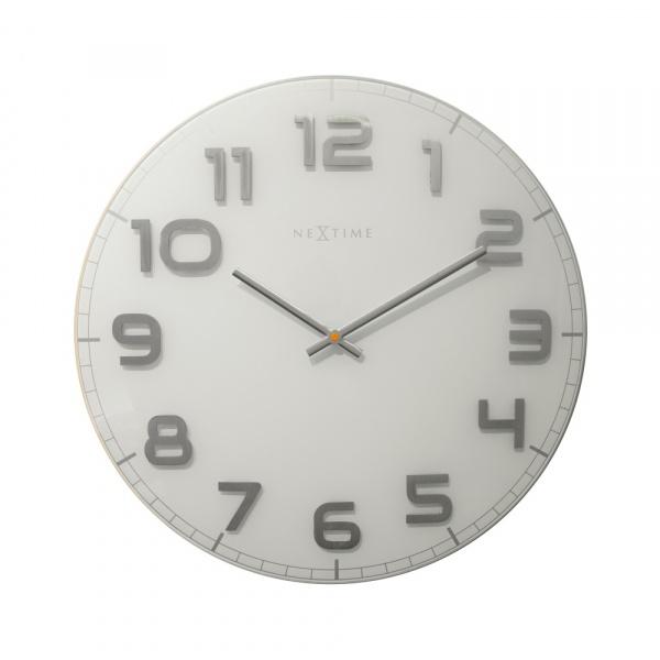 Zegar ścienny 50 cm Nextime Classy biały 3105WI