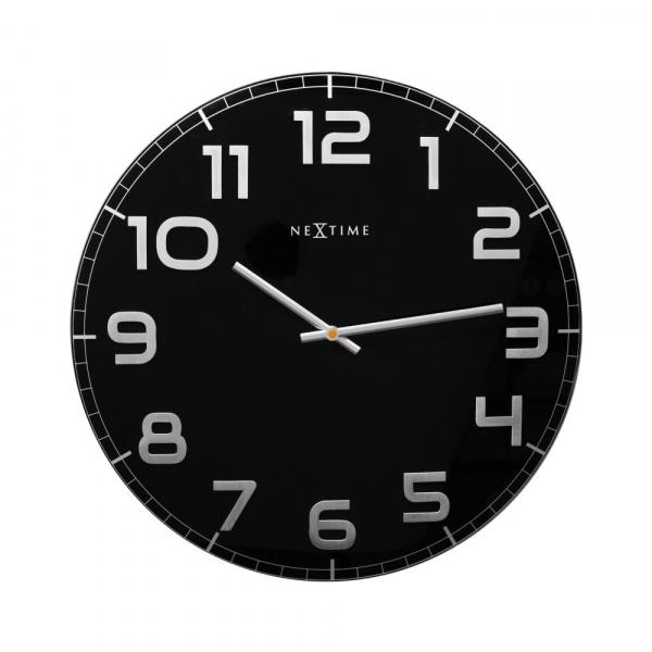 Zegar ścienny 50 cm Nextime Classy czarny 3105ZW