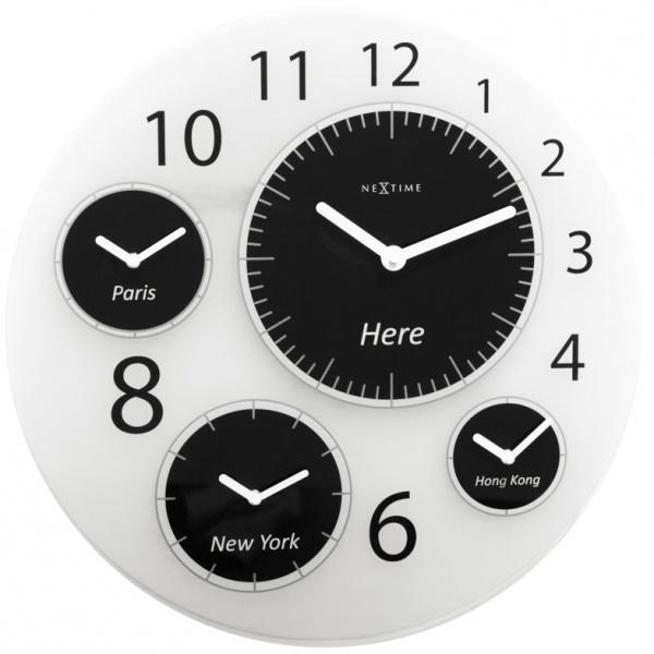 Zegar ścienny 52 cm Nextime Big World 3101