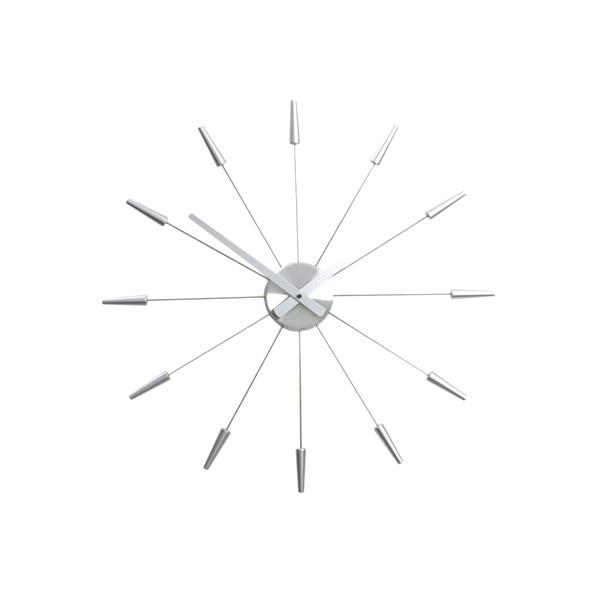 Zegar ścienny 60 cm Nextime Plug inn srebrny 2610zi