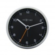 Zegar ścienny 9 cm Nextime Company Alarm czarny 5194WI