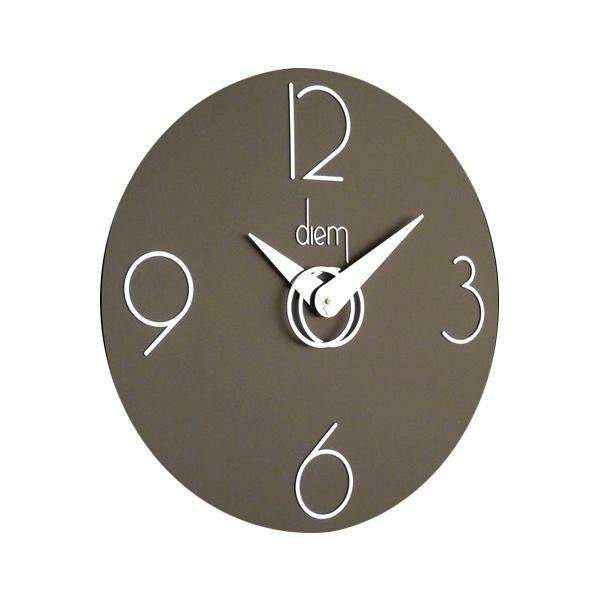 Zegar ścienny Incantesimo Design Diem srebrny ciemny 501 N