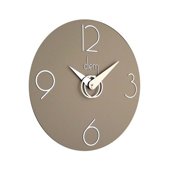 Zegar ścienny Incantesimo Design Diem srebrny jasny 501 GR