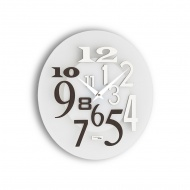 Zegar ścienny Incantesimo Design Free drewno tropikalne