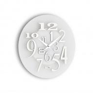 Zegar ścienny Incantesimo Design Free metalik biały