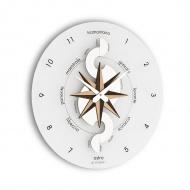 Zegar ścienny Incantesimo Design Nautico drewno tropikalne
