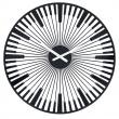 Zegar ścienny Koziol Piano czarny KZ-2340526