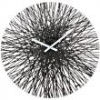 Zegar ścienny Koziol Silk czarny KZ-2328526