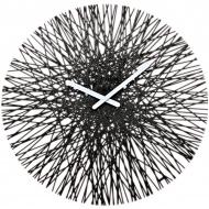 Zegar ścienny Koziol Silk czarny
