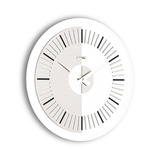 Zegar ścienny Meridium Incantesimo Design biało-szary 504 BNR