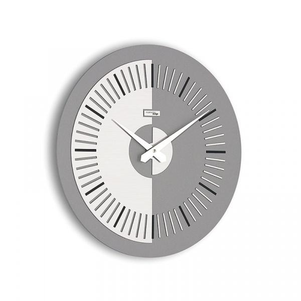Zegar ścienny Meridium Incantesimo Design szaro-czarny 504 GN