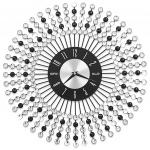Zegar ścienny, metal, 43 cm, czarny