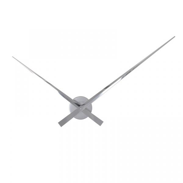 Zegar ścienny Nextime Hands 90 cm Chrom 2269CH