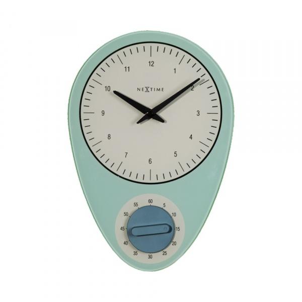 Zegar ścienny NeXtime Hans niebieski 3097BL