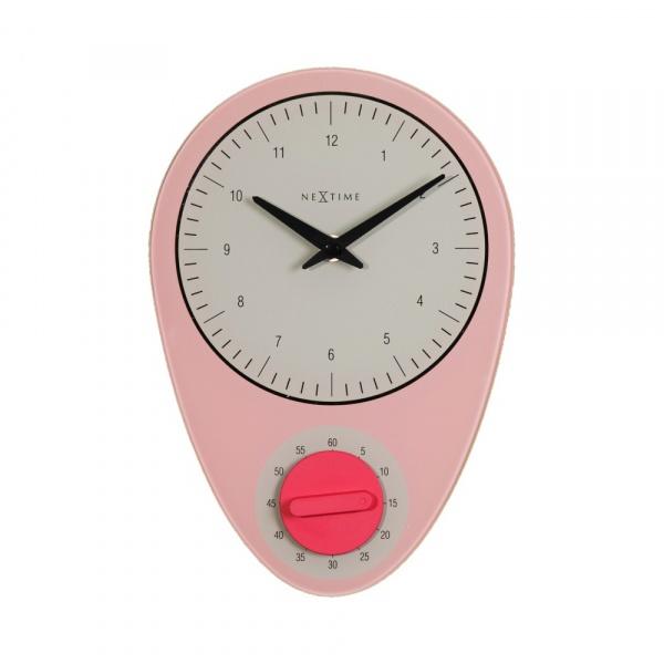 Zegar ścienny NeXtime Hans rożowy 3097RZ