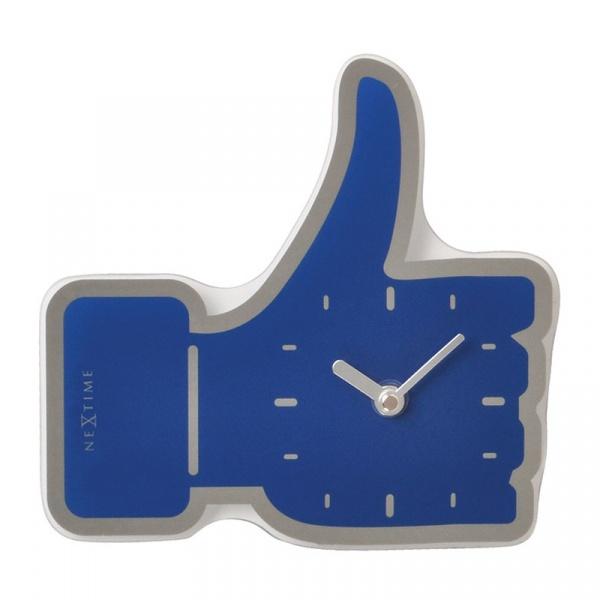 Zegar ścienny Nextime Mini Thumbs Up niebieski 5185BL