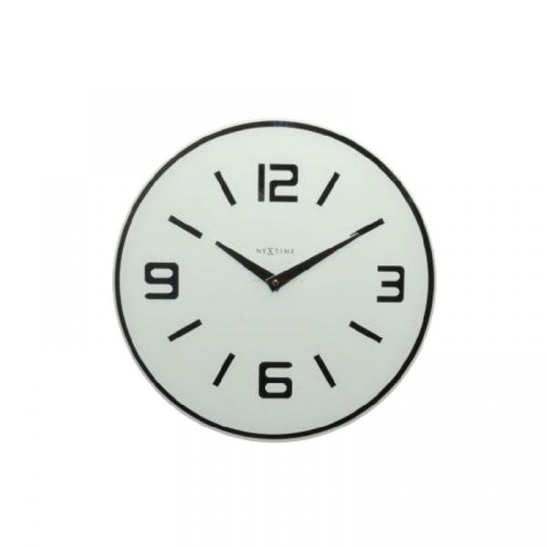 Zegar ścienny Nextime Shuwan biały 8148WI