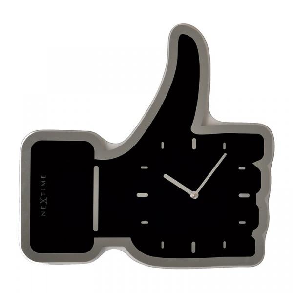 Zegar ścienny Nextime Thumbs Up czarny 3072ZW