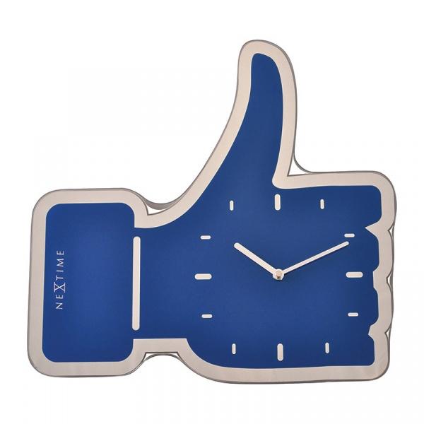 Zegar ścienny Nextime Thumbs Up niebieski 3072BL
