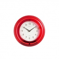 Zegar ścienny Nextime Wall clock Neon czerwony