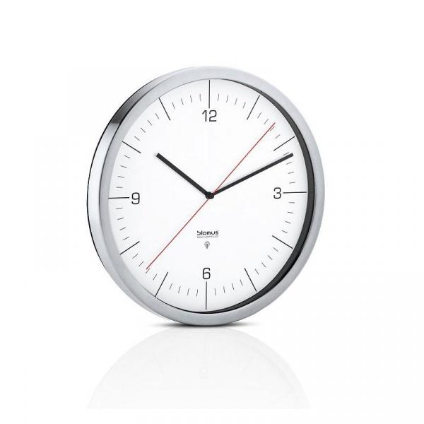 Zegar ścienny sterowany radiowo Blomus Crono biały 65436