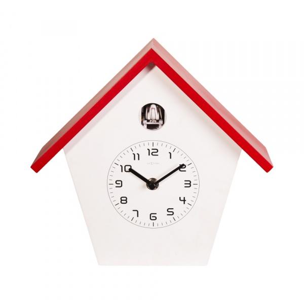 Zegar ścienny z kukułką NeXtime Birdy czerwony 3108RO