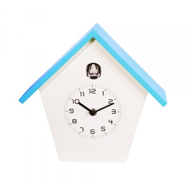 Zegar ścienny z kukułką NeXtime Birdy niebieski 3108BL