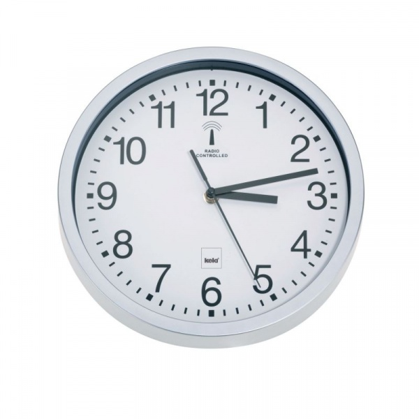 Zegar sterowany radiowo Kela Bilbao biały KE-11258