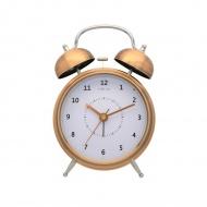 Zegar stojący 21,5 cm NeXtime Wake Up miedziany