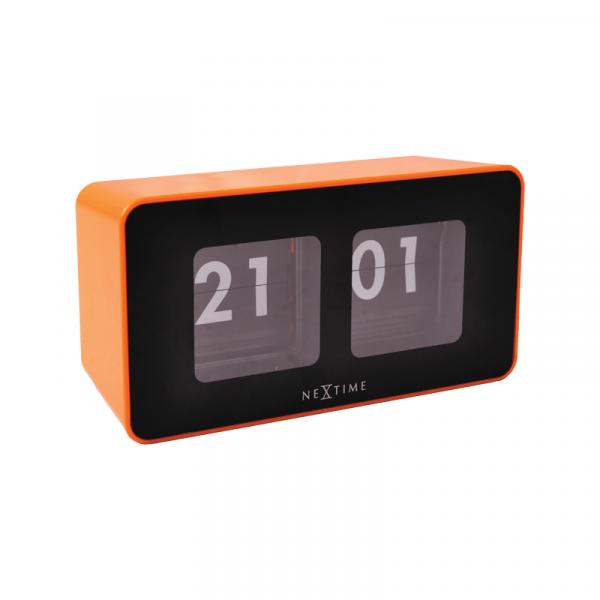 Zegar stojący Nextime Flipped pomarańczowy 5186OR
