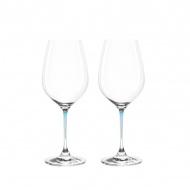 Zest. 2 kieliszków do wina Leonardo La Perla przezroczysty/błękit