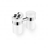 Zestaw 2 kubków łazienkowych 7cm Zack Scala srebrno-mleczny