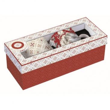 Zestaw 2 kubków z porcelany Nuova R2S Trend & Colours czerwony