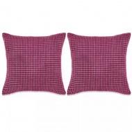 Zestaw 2 poduszek, welur, 45x45 cm, różowy