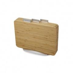 Zestaw 3 desek bambusowych Joseph Joseph Index Bamboo brązowy