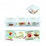 Zestaw 3 miseczek z łyżeczkami na tacy Nuova R2S Vintage