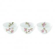 Zestaw 3 miseczek z porcelany Nuova R2S Sakura