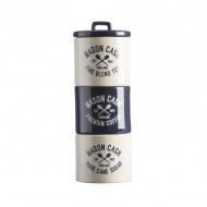 Zestaw 3 poj. na herbatę, kawę, cukier 0,8l Mason Cash Varsity granatowo-biały