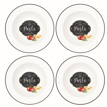 Zestaw 4 głębokich talerzy Nuova R2S Kitchen Basics