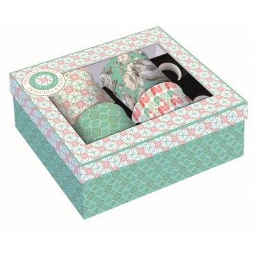 Zestaw 4 kubków z porcelany Nuova R2S Trend & Colours zielony