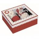 Zestaw 4 kubków z porcelany Nuova R2S Trend & Colours czerwony