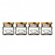 Zestaw 4 minisłoiczków 55ml Kilner Mini Jars przezroczysty