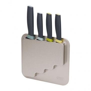 Zestaw 4 noży z blokiem do przyklejenia na drzwi