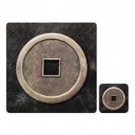 Zestaw 4 szt. podkładek 28x28cm Ladelle Lucky Coin czarno-szary