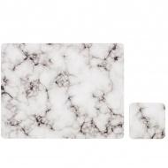 Zestaw 4 szt. podkładek 33,5x26cm Ladelle Stone Marble czarno-biały